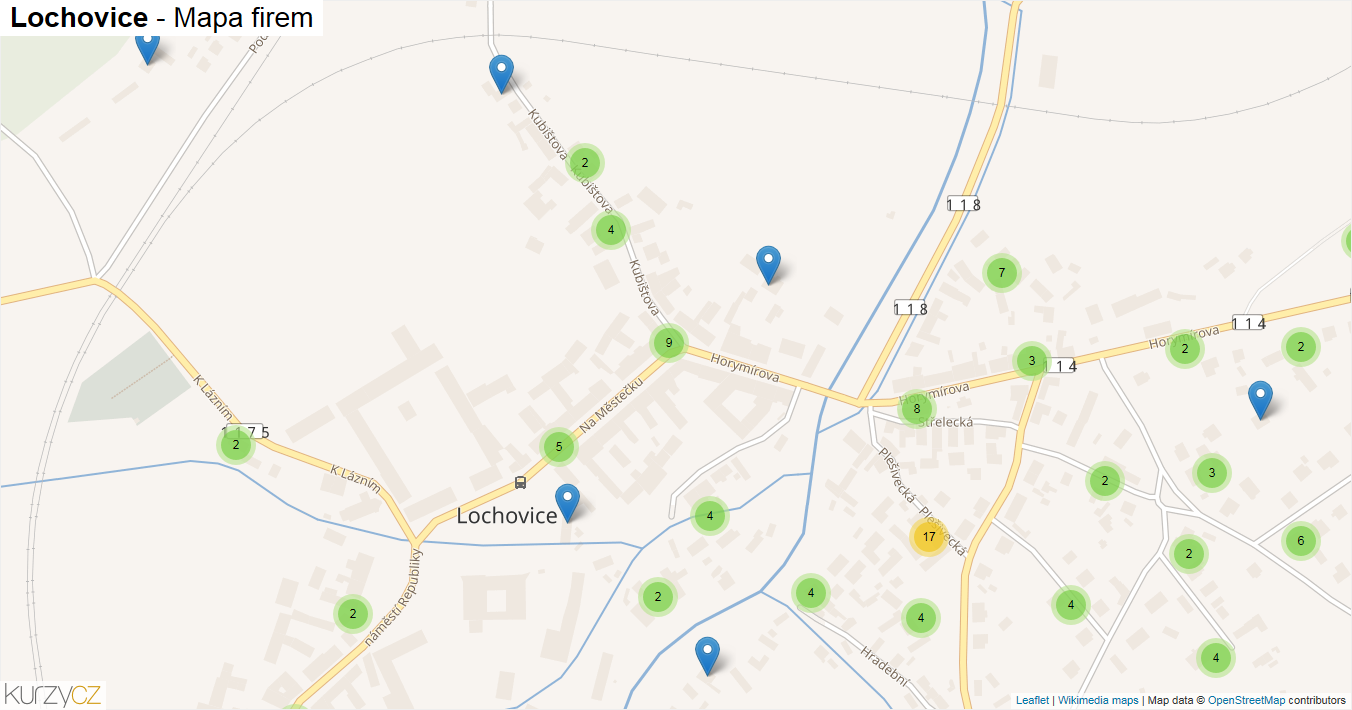 Lochovice - mapa firem