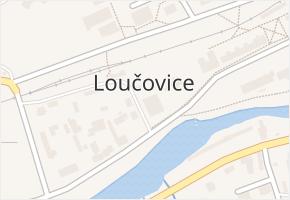 Loučovice v obci Loučovice - mapa části obce