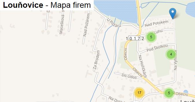 Louňovice - mapa firem