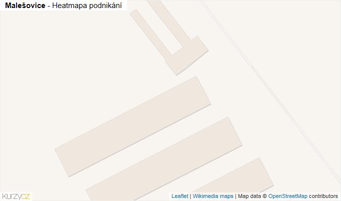 Mapa Malešovice - Firmy v obci.