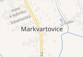 Markvartovice v obci Markvartovice - mapa části obce