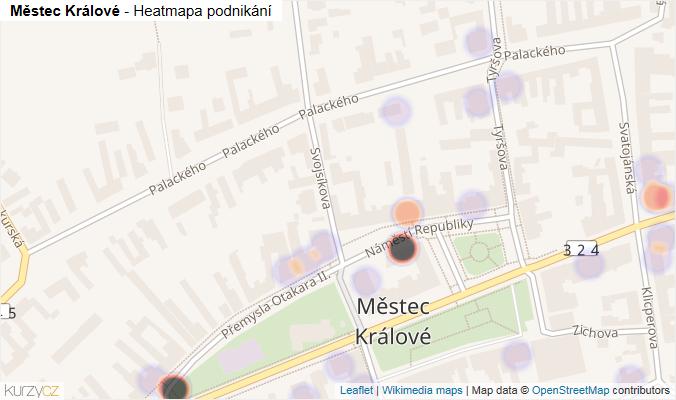 Mapa Městec Králové - Firmy v obci.