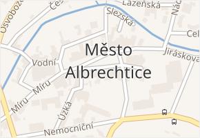 Město Albrechtice v obci Město Albrechtice - mapa části obce