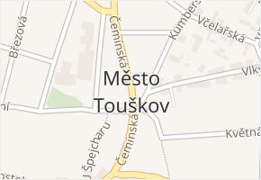Město Touškov v obci Město Touškov - mapa části obce