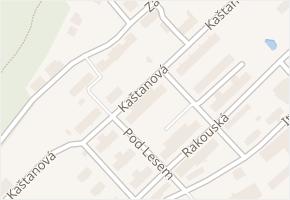 Kaštanová v obci Milovice - mapa ulice