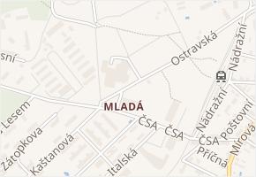 Nám. 30. června v obci Milovice - mapa ulice