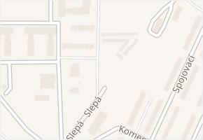 Slepá v obci Milovice - mapa ulice