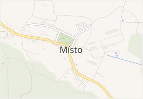Místo v obci Místo - mapa části obce