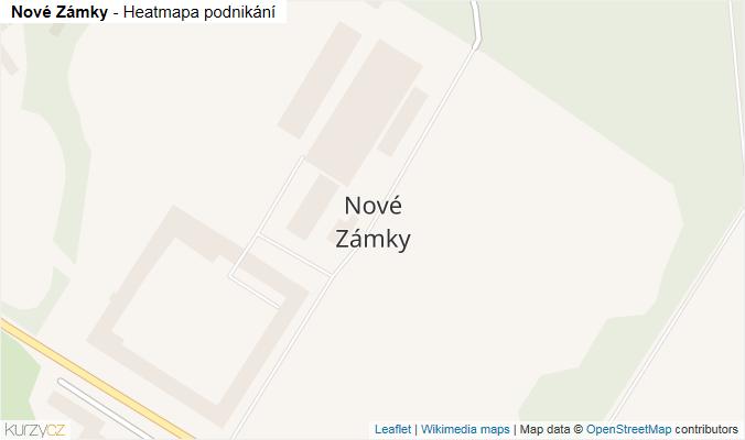 Mapa Nové Zámky - Firmy v části obce.
