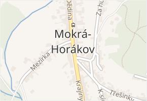 Mokrá v obci Mokrá-Horákov - mapa části obce