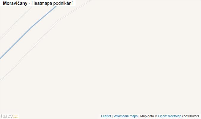 Mapa Moravičany - Firmy v obci.