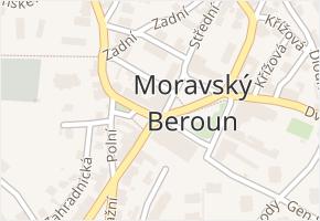 Moravský Beroun v obci Moravský Beroun - mapa části obce