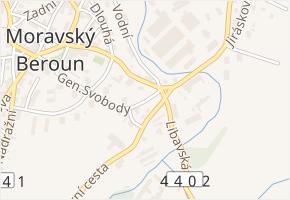Stodolní v obci Moravský Beroun - mapa ulice