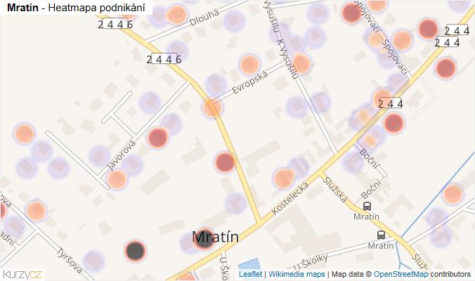 Mapa Mratín - Firmy v obci.