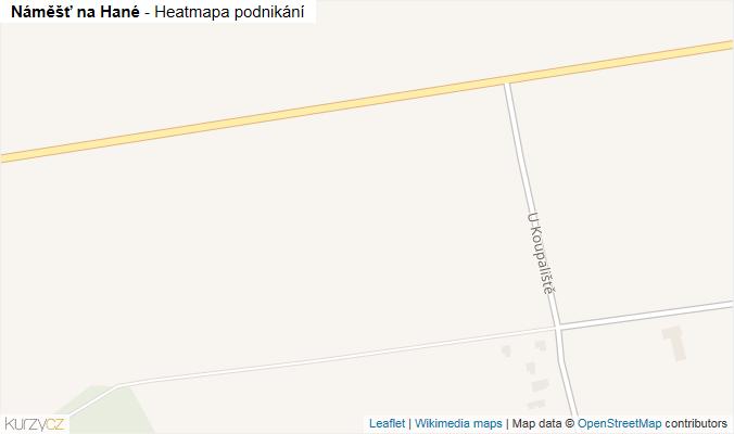 Mapa Náměšť na Hané - Firmy v obci.