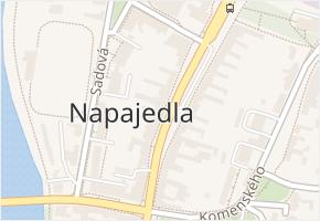 Napajedla v obci Napajedla - mapa části obce