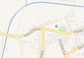 Havlíčkova v obci Nechanice - mapa ulice