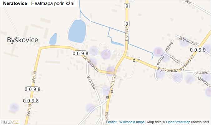 Mapa Neratovice - Firmy v obci.