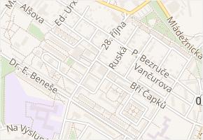 Bří Čapků v obci Neratovice - mapa ulice