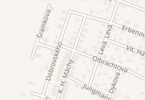 K. H. Máchy v obci Neratovice - mapa ulice