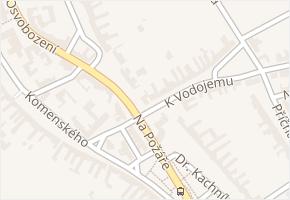 Nivnice v obci Nivnice - mapa části obce