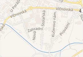 Zahradní v obci Nivnice - mapa ulice