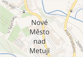 Nové Město nad Metují v obci Nové Město nad Metují - mapa části obce