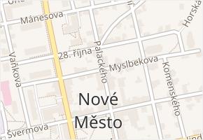 Myslbekova v obci Nové Město pod Smrkem - mapa ulice