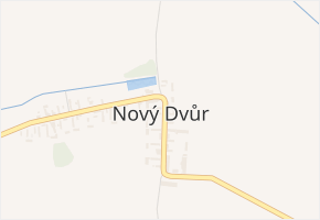Nový Dvůr v obci Nový Dvůr - mapa části obce