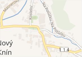 Nový Knín v obci Nový Knín - mapa části obce