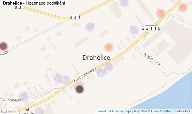 Mapa Drahelice - Firmy v části obce.