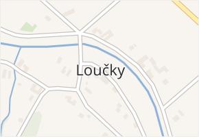 Loučky v obci Odry - mapa části obce