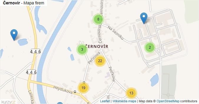 Mapa Černovír - Firmy v části obce.