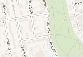 Krapkova v obci Olomouc - mapa ulice