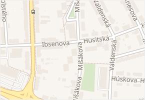Mišákova v obci Olomouc - mapa ulice