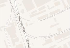 Sladkovského v obci Olomouc - mapa ulice