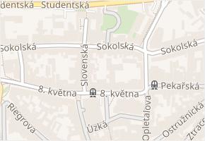 Sokolská v obci Olomouc - mapa ulice