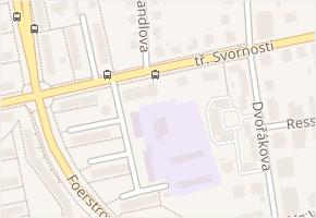 tř. Svornosti v obci Olomouc - mapa ulice
