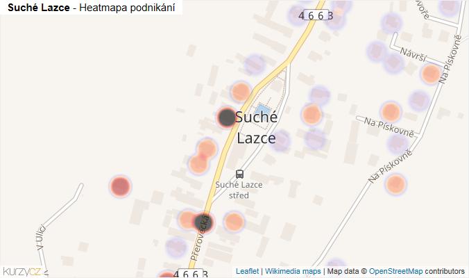 Mapa Suché Lazce - Firmy v části obce.