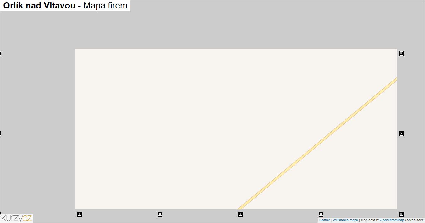 Orlík nad Vltavou - mapa firem