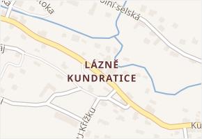 Lázně Kundratice v obci Osečná - mapa části obce
