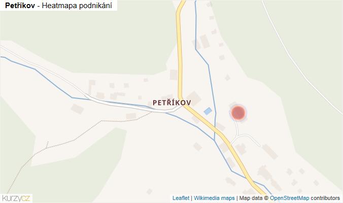 Mapa Petříkov - Firmy v části obce.