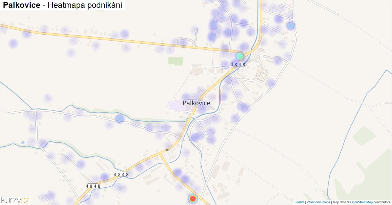 Palkovice - mapa podnikání