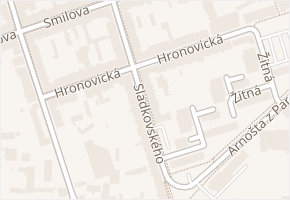 Hronovická v obci Pardubice - mapa ulice