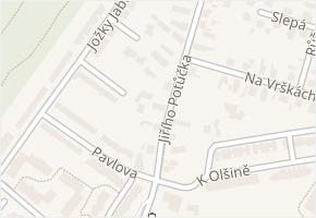 Jiřího Potůčka v obci Pardubice - mapa ulice