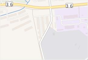 Pardubice VII v obci Pardubice - mapa městské části
