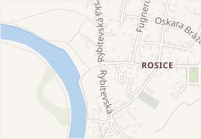 Rybitevská v obci Pardubice - mapa ulice