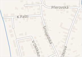Srnojedská v obci Pardubice - mapa ulice