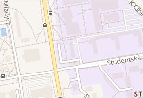 Studentská v obci Pardubice - mapa ulice