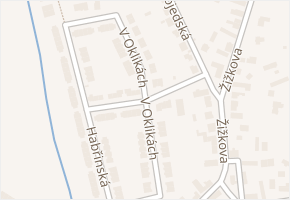 V Oklikách v obci Pardubice - mapa ulice